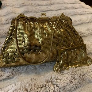Vintage Whiting and Davis Clutch and Change Purse